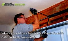 Commercial doors are specially designed to improve the security level in your business premises. But just as any standard products, commercial doors get wear and tear over time. Very soon, you may have to replace your old door with a brand new one. Garage Door Company, Prompts, Commercial, Training, Doors, Business, Design, Work Outs
