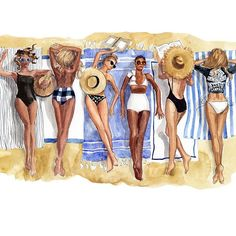 One last official summer weekend {artwork for 2017 classic calendar, August} #calendariscoming