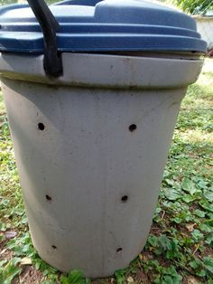 Turn a spare garbage can into a compost bin in 30 minutes or less. It's easy, cheap, and green since you are reusing something you already have.