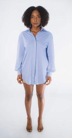 Cute, Modest, and Playful Women's Button Down Shirt Dress with Pockets Button Down Shirt Dress, Clean Design, Lilac, Casual Dresses, San Francisco, Women Wear, Dressing, Pockets, Facebook