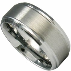 9mm Tungsten Men S Wedding Ring W Stepped Edge Razr Band Engraving Is Available