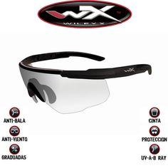 Gafas transparentes Wiley X Saber Advanced. Máxima protección. Resisten el impacto de bala. Homologadas para trabajos donde los ojos han de estar protegidos. Elegantemente construidas y diseñadas. No es una imitación. ¡Es la auténtica Wiley X! #wileyx #saberadvanced #gafas #sunglasses Airsoft, Oakley Sunglasses, Health, Fitness, Fashion, Dupes, Bias Tape, Elegant, Bullets