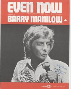 BARRY MANILOW 70's Sheet music EVEN NOW