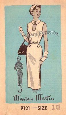 Marian Martin 9121 Vintage Sleeveless Peek a Boo Bodice Wiggle Dress Sewing Pattern Sz 10 Moda Vintage, Style Vintage, Vintage Ladies, Robes Vintage, Vintage Dresses, Retro Outfits, Vintage Outfits, Vintage Dress Patterns, Clothing Patterns