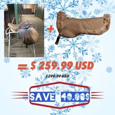 Huge Christmas Saving - 40$ on this Saddle and Pad set Visit our Good Deals collection today