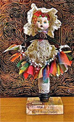 Springtime doll made taking JoAnna Pierotti class