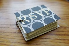 What to do with my wedding RSVP cards... turn them into a minibook! From Lemon & Raspberry