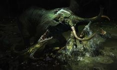 The elephant, Jama Jurabaev on ArtStation at https://www.artstation.com/artwork/a9aQ8
