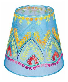 Take a look at this Turquoise Lamp Shade by Karma Living on today!