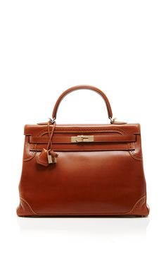 Hermes 35cm Fauve Ghillies Kelly by HERITAGE AUCTIONS SPECIAL COLLECTION for Preorder on Moda Operandi