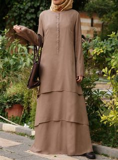 SHUKR USA | Modal Layered Abaya Hijab Dress, Hijab Outfit, Muslim Dress, Dress Skirt, Modest Dresses, Islamic Fashion, Muslim Fashion, Abaya Fashion, Fashion Dresses