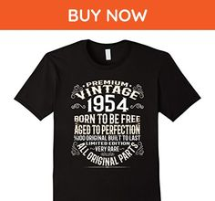 Mens Made In 1954 63th Birthday 63 Years Old Gift T-Shirt Large Black - Birthday shirts (*Amazon Partner-Link)