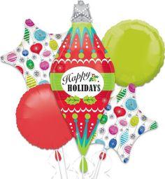 Happy Holidays Mylar Balloon