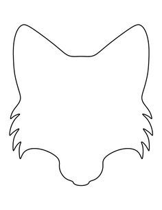 Fox face pattern. Use the printable outline for crafts, creating stencils, scrapbooking, and more. Free PDF template to download and print at http://patternuniverse.com/download/fox-face-pattern/