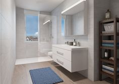 3d Modelle, Double Vanity, Bathroom Lighting, Mirror, Furniture, Home Decor, Architecture Visualization, Real Estates, Floor Layout