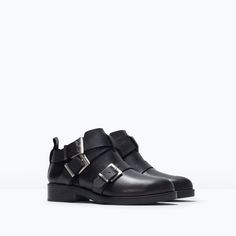 LEATHER ANKLE BOOT WITH BUCKLES-Ankle boots-Shoes-WOMAN | ZARA United States