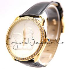 Ceas dama Jessy Gold Angel cu cristale Swarovski Smart Watch, Swarovski, Angel, Gold, Fashion, Moda, Smartwatch, Fashion Styles, Angels