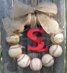 Saint Louis Cardinals Baseball Love Wreath with STL