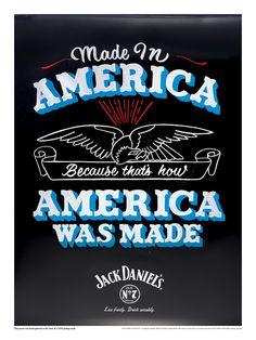 Cartaz artezanal para Jack Daniels