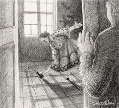 Illustrazione tratta dal diario di Yakov, un blog di fantascienza contadina del 1964 - 10° giorno - Zia Mira e slancio di poltrona