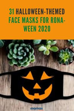 Check out these festive Halloween-themed face masks. From witch hats and black cats to candy corn and flying bats, these masks are spooktastic! #Halloween #FaceMasks #Masks