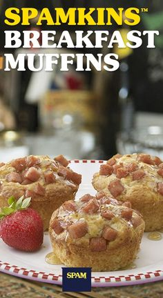 If these SPAMKIN™ Breakfast Muffins won't wake you up, nothing will. | Breakfast | SPAM® Brand | Breakfast Muffins