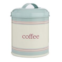 Duck Egg Coffee Storage Tin