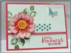 CCMC307, Stampin Up, #stampinup, Beautiful Bunch, Fun Flower Punch, Kinda Eclectic, Connie Babbert, www.inkspiredtreasures.com