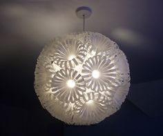 Recycled water bottle lampshade