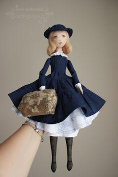 Блог Мои любимые игрушки. Анна Балябина, авторские куклы и игрушки: Мэри Поппинс. Авторская текстильная кукла