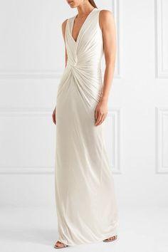 Lanvin - Twist-front Jersey Gown - Ivory - FR36