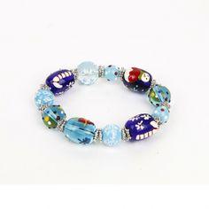 Hand Painted Glass Christmas Winter Bracelets GBR10081