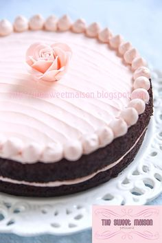 Black Magic Chocolate Cake with Sweet Pink Buttercream