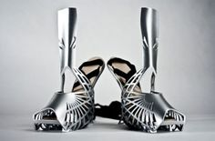 Wow! Look at these 3D Printed beauties! #3dPrinted #shoes #fashion