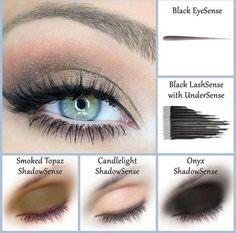 SmokedTopaz, Candlelight, & Onyx  ShadowSense combo  Beautiful smokey eye look SeneGence  Distributor ID #209823 www.myforevermakeup.com