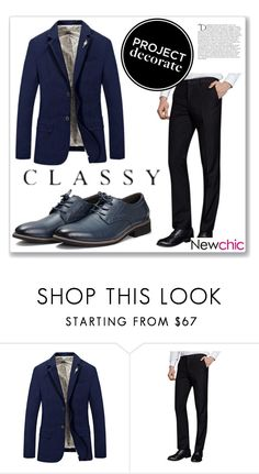 """Newchic 23"" by abecic ❤ liked on Polyvore featuring Balmain, men's fashion and menswear"