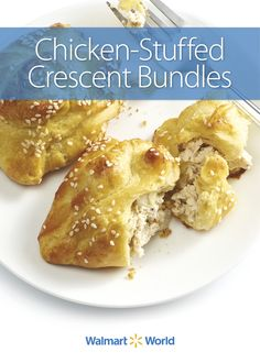 Convenient, ready-made crescent rolls are the basis for this Chicken-Stuffed Crescent Bundles recipe, created by Julie W., customer service manager at Store 1427 in Circleville, Ohio. #dinner #simple