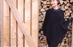 Poncho - wool and alpaca. Cold Shoulder Dress, High Neck Dress, Wool, Dresses, Fashion, Turtleneck Dress, Gowns, Moda, Fashion Styles