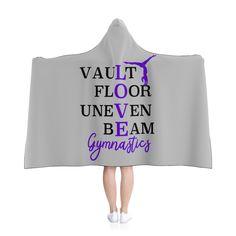 Love Gymnastics Light Gray Hooded Blanket Grey by STLDesignShop on Etsy Gymnastics Quotes, Gymnastics Coaching, Gymnastics Training, Gymnastics Gifts, Gymnastics Workout, Gymnastics Stuff, Elite Gymnastics, Cheer Flexibility, Stretches For Flexibility