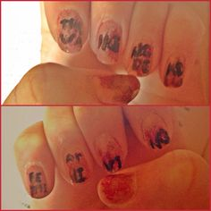 """Bloody THE WALKING DEAD nails.""""fear the living"""""""