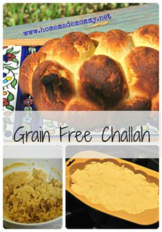 """I needed a challah that is easy to make and that I can eat – no grains.  It turned out great and everyone loved it. It reminds me of pound cake! I bought a challah silicon baking mold so that it looks like a challah!""    Ingredients:  6 eggs  2 Tbsp raw honey  1/2 cup coconut oil (melted)  3/4 cup coconut flour  1/2 tsp sea salt  1 tsp baking powder  cinnamon to sprinkle on top"