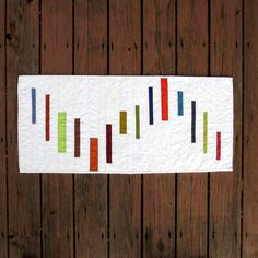 Modern Table Runner Quilted Table Runner Stripes by TwiggyandOpal, $52.00