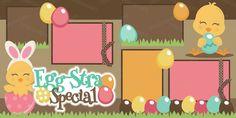 Egg-stra Special Easter 2 Page Scrapbook Kit