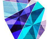 Jewel Tone I, (Geometric Diamond Shaped Stone) 8X10 Art Print. $20.00, via Etsy.