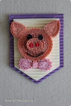 Квиллинг - Ещ магнитики Quilling Animals, Crochet Earrings, 3d, Quilling Craft, Crafts, Pork, Ideas