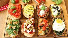 Cookbook Recipes, Wine Recipes, Bruschetta, Tapas, Gula, Tomato Mozzarella, Grilled Eggplant, Zucchini Bread, Antipasto