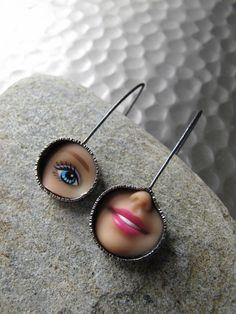 Margaux Lange - Smile and Eye earrings