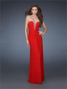 Column/Sheath Deep Sweetheart Beaded and Pleated Chiffon Prom Dress PD11352 www.dresseshouse.co.uk $116.0000