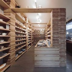 Habitat Antique   Facet Studio have completed the interior of a vintage shop in Osaka, Japan, using cedarwood, rice paper and linen.