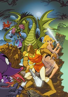 gameraddictions:    artwork  Dragon's Lair